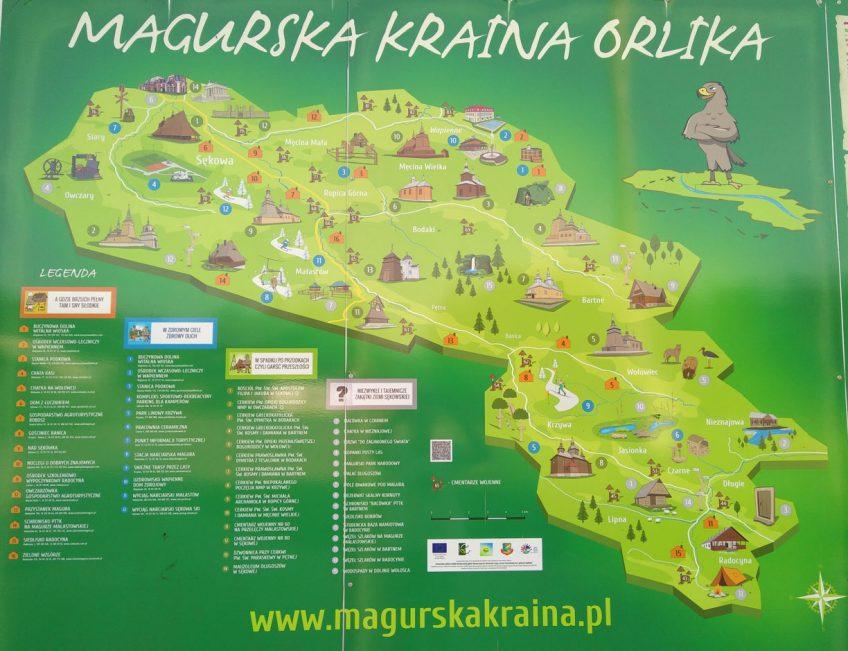 Sehenswürdikeiten in der Kraina Orlika